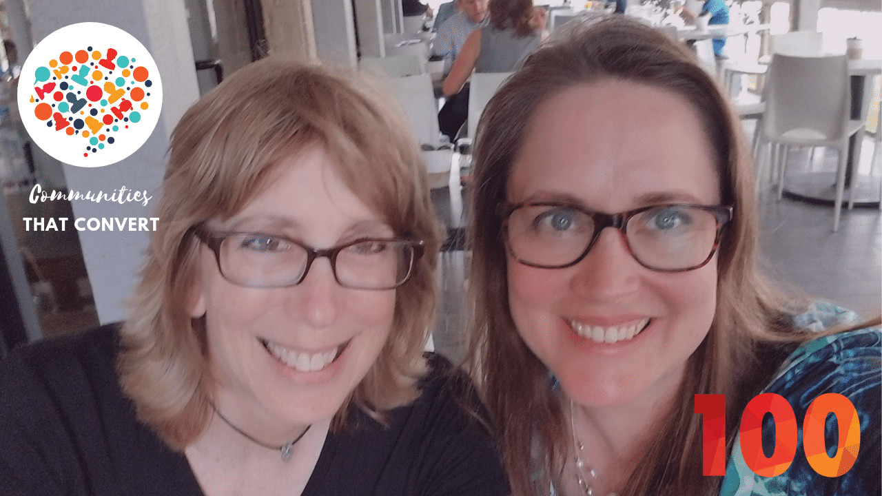 Kami Huyse and Madalyn Sklar celebrate their 100th Podcast Episode